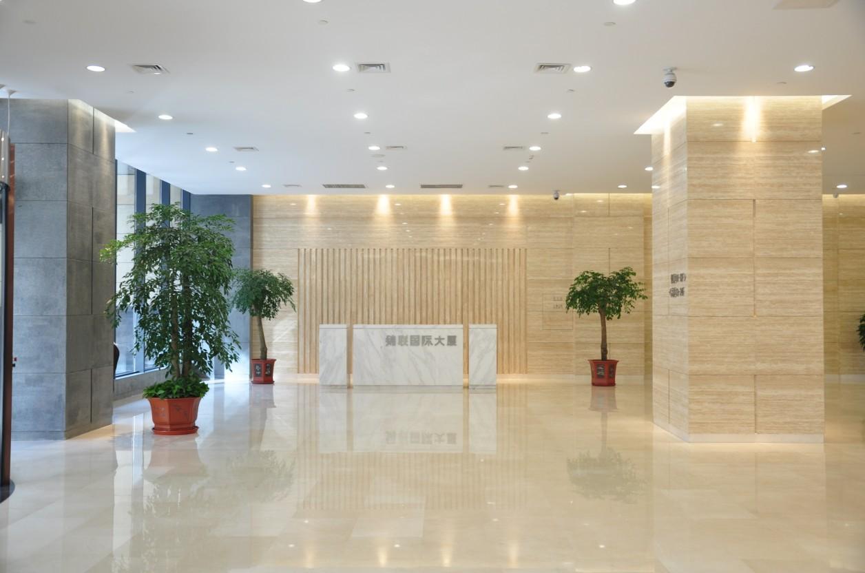 锦联国际大厦大堂一层大堂实景图