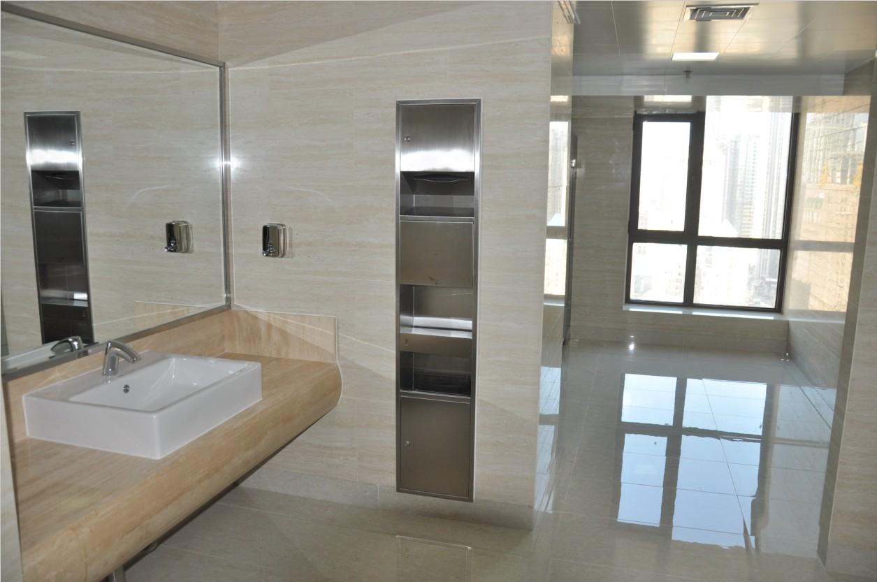锦联国际大厦大堂卫生间实景图